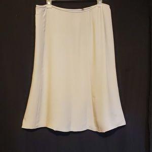 Armani Collezioni Silk Blend Gray Skirt Sz 12